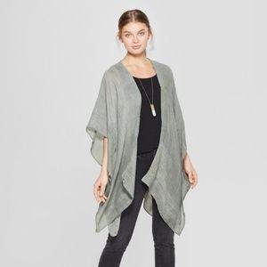 Women's Sheer Green Kimono Jacket